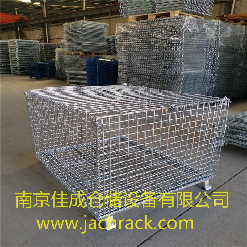 四川成都某公司带盖折叠堆码仓储笼项目